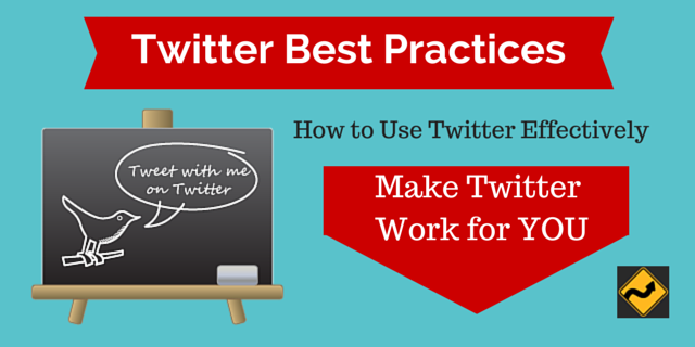Twitter Best Practices Chalk board with Twitter bird