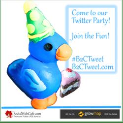 B2CTweet Twitter Party Logo Invitation