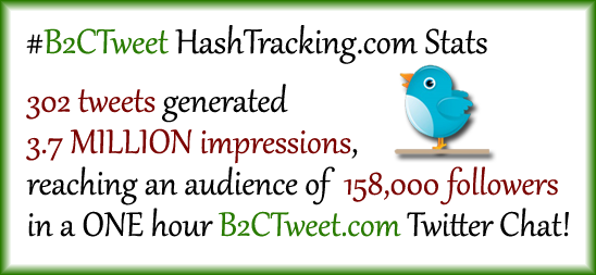 Twitter Chat Stats for the very first #B2CTweet Chat