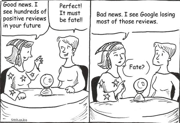Google Places Reviews Cartoon