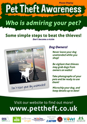 Poster for Dog Theft Awareness Week
