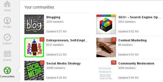Top Google Plus Communities