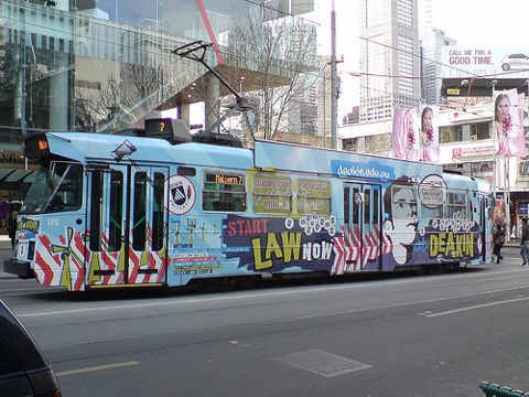 Law at Deakin Uni - Tram Advertising
