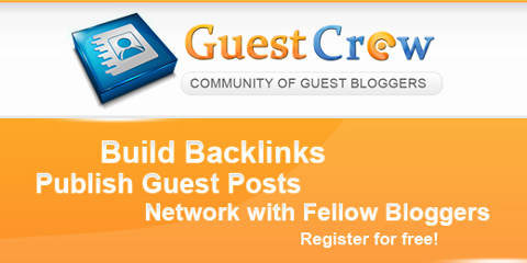 Guest Crew Community of Guest Bloggers ~ Build backlinks by having guest posts published