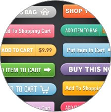 Many choices of text and colors for Add to Cart buttons