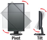 Shows how the monitor can be rotated