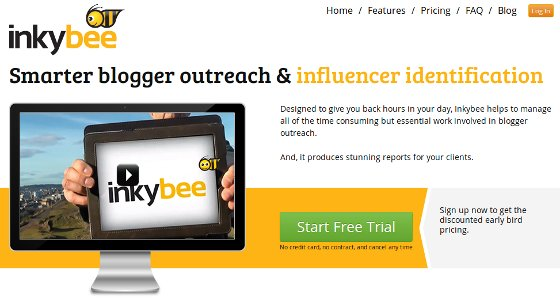 InkyBee blog outreach tool