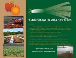 Deep Valley Farms Okmulgee, OK CSA mailing