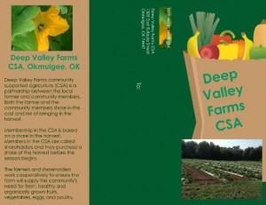 Deep Valley Farms Okmulgee, OK CSA mailer