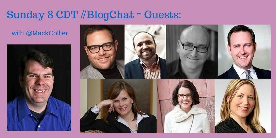 Matt Collier and Guests on #BlogChat Twitter Chat in 2014