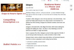 Sample Local Business Listing in the DirJournal Local Directory