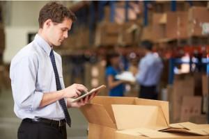 Logistics Worker Packing Box