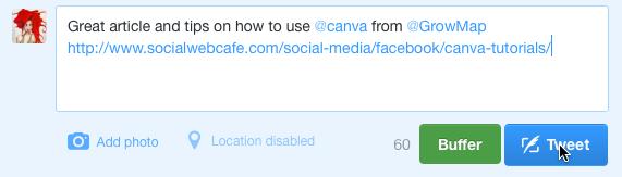 Creating the Tweet