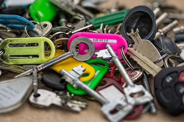 Colorful Pile of Keys