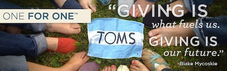 TOMS Shoes Brand Transparency is related to giving