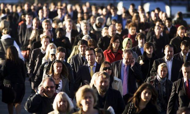 crowd of people on London Bridge