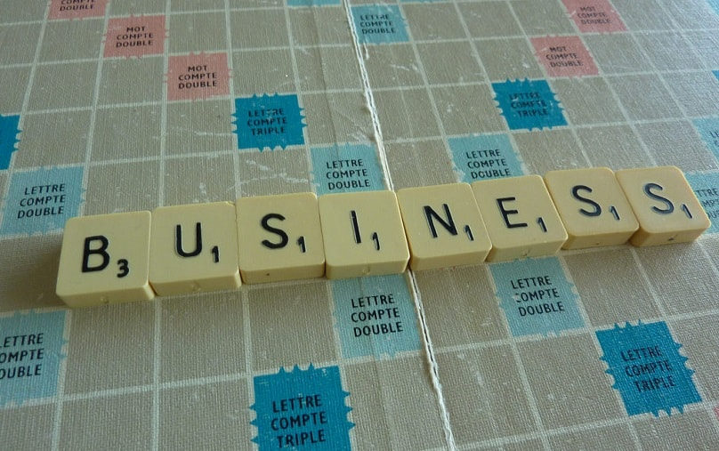 Scrabble board with Business spelled out in tiles