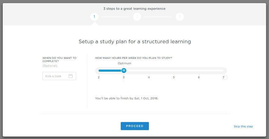 1 Setup Study Plan in Simplilearn