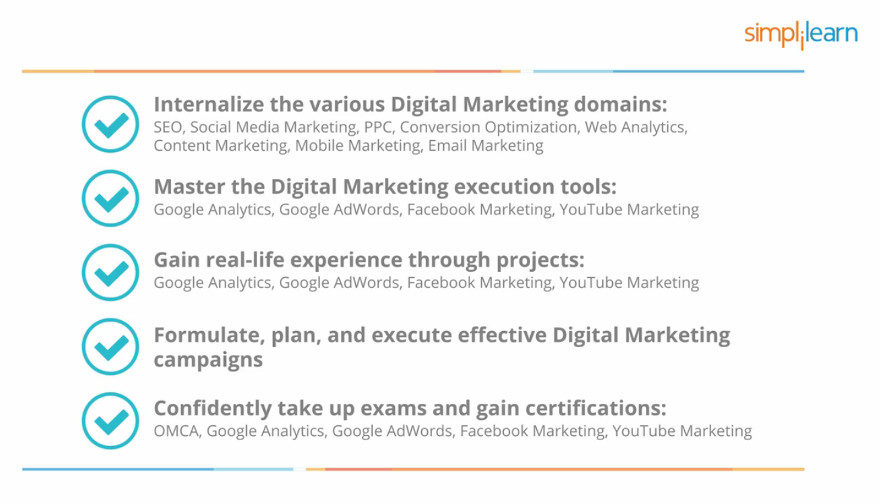 10 9 the Digital Marketing Certified Associate Training Program Bottom Line