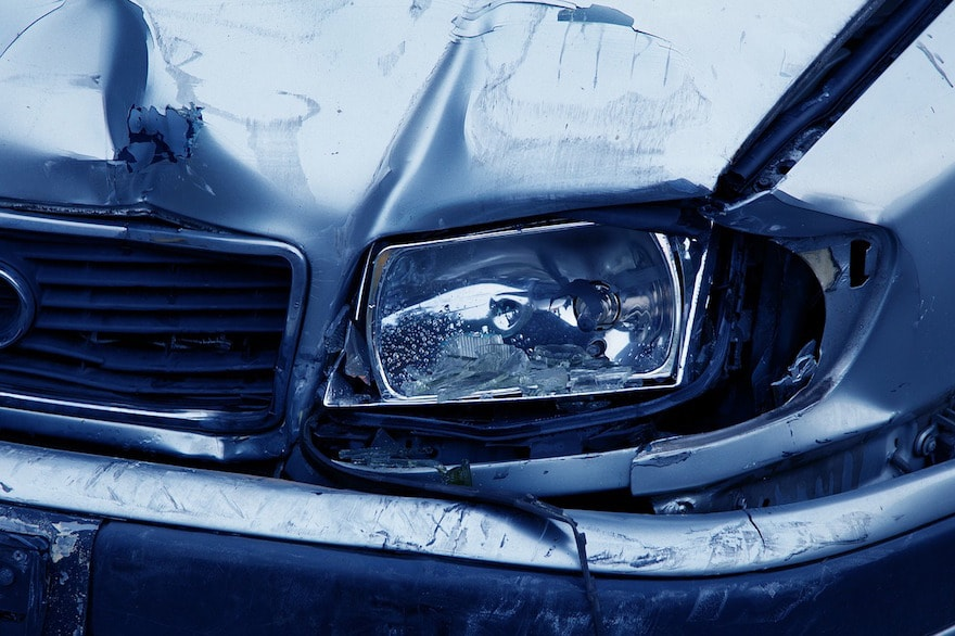 Smashed Headlight-Commercial Auto Insurance