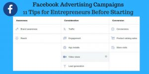 11 Tips for Entrepreneurs Before Starting Facebook Advertising Campaigns