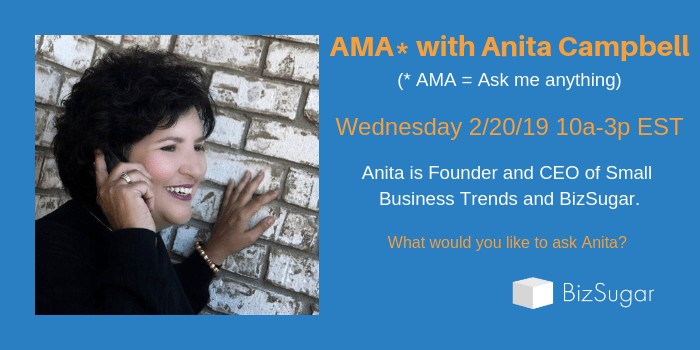 BizSugar AMA with Anita Campbell