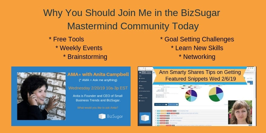 Why You Should Join Me in the BizSugar Mastermind Community Today