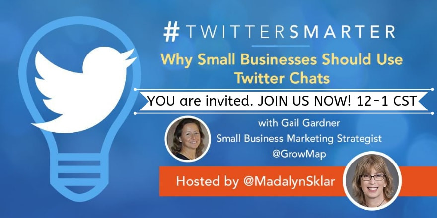 JOIN US NOW TwitterSmarter Twiter Chat Mar 27 2019 guest Gail Gardner