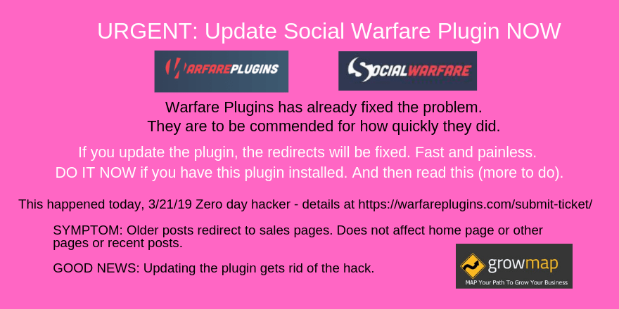 URGENT Update Social Warfare Plugin NOW