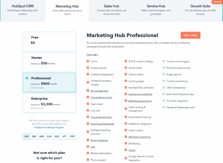 HubSpot Pricing