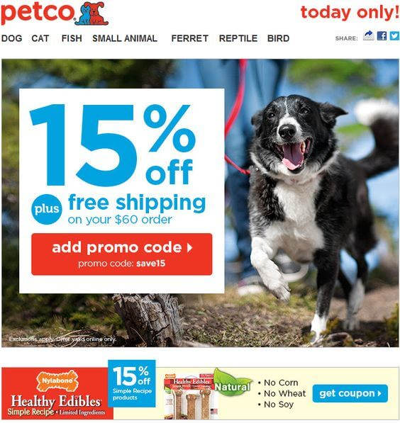 PetCo Free Shipping Codes