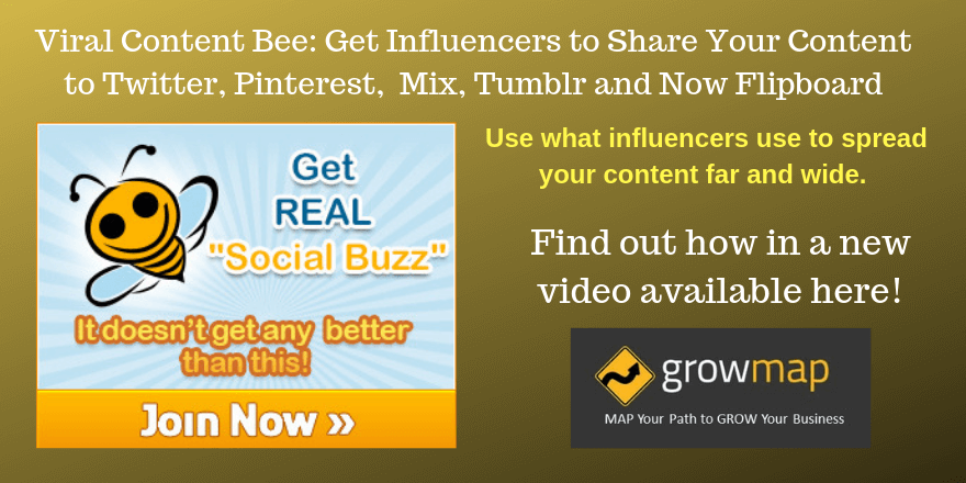 Viral Content Bee: Get Influencers Sharing Your Content to Twitter, Pinterest, Mix, Tumblr and Now Flipboard