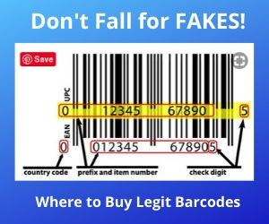 UPC CODES don't fall for fakes