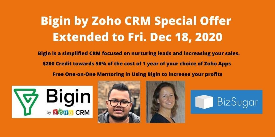 Zoho Bigin CRM Special Offer Extended