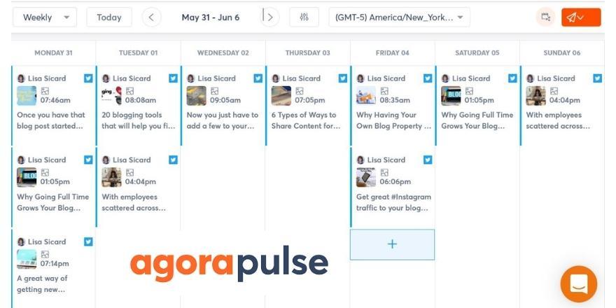 Agorapulse Calendar
