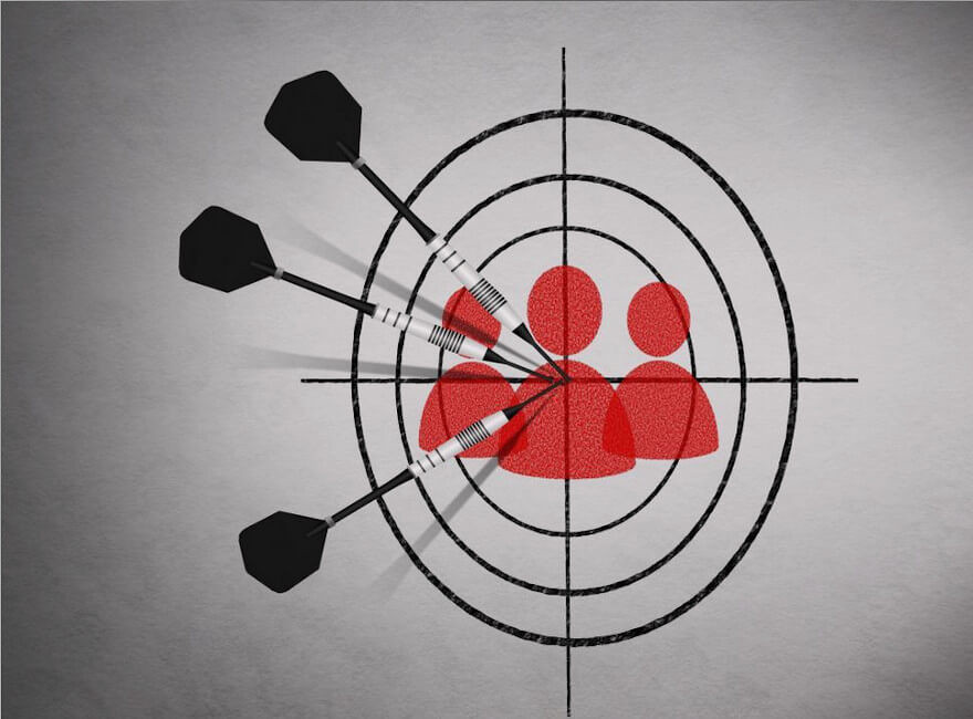 Know Your Audience image of people as your target