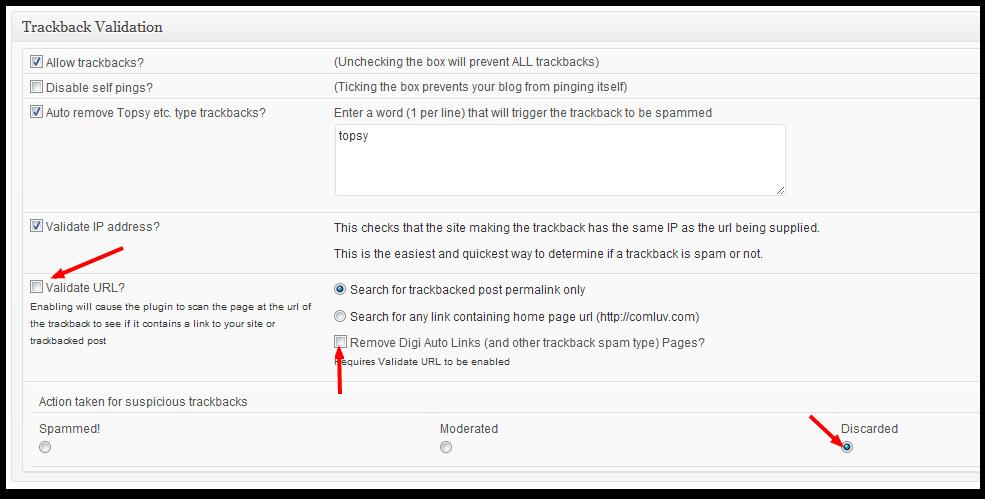 GrowMap anti-spambot Settings to Block phony trackbacks sent by WordPress plugin Digi Auto Links