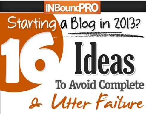 16 Blog ideas to avoid compete and utter failure