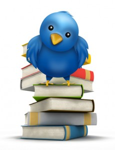 Twitter Icon with Books