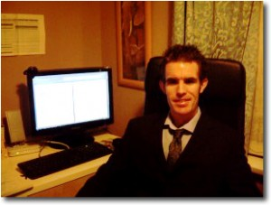 Affiliate Marketer John Gibb at his desk