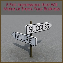 First impressions road sign to failure and success