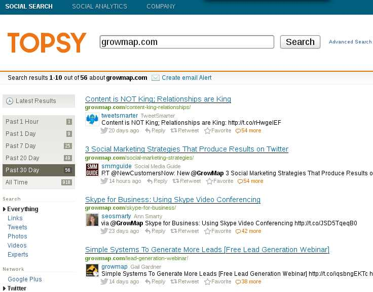 Topsy search results for GrowMap