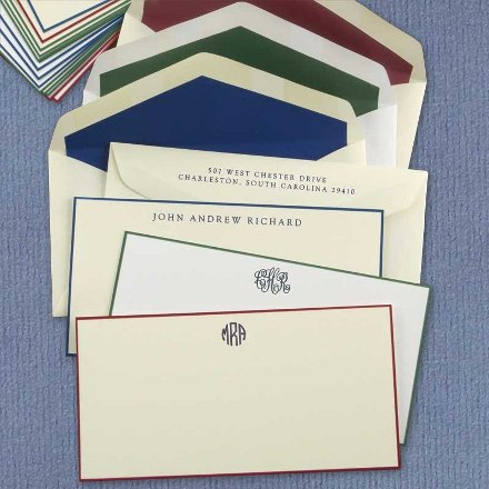 Examples of personalized stationary