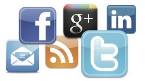 Various social media network icons