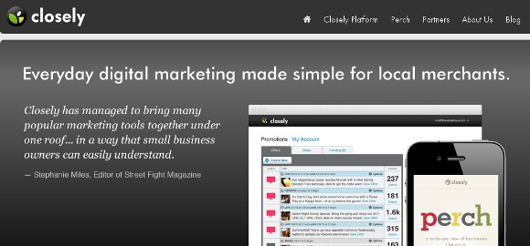 View of the Closely Small Business Social Media Monitoring Platform