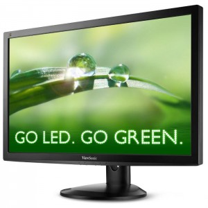 Photo of the ViewSonic vg2732m LED energy-saving rotating monitor
