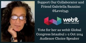 Support Our Friend and Collaborator Gabriella Sannino to speak at webit