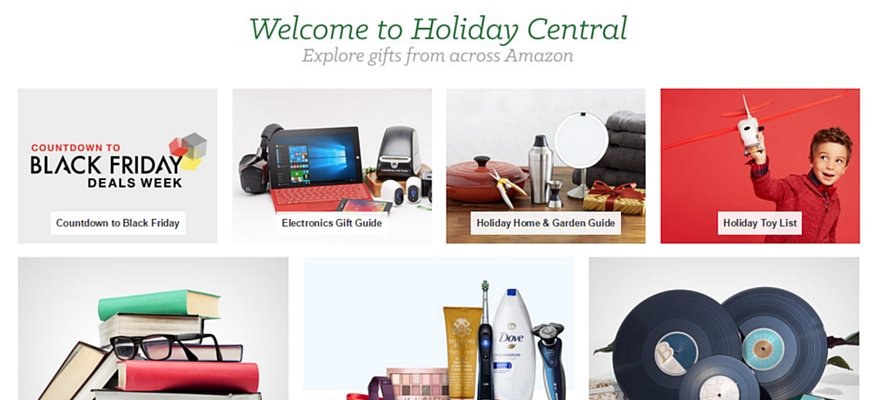 Holiday Central on Amazon Gifts