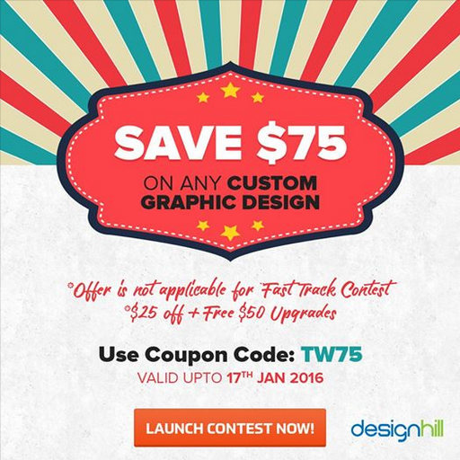 Limited time Save $75 at Designhill.