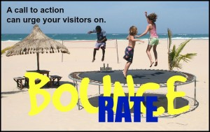 Bounce rate - urge them on